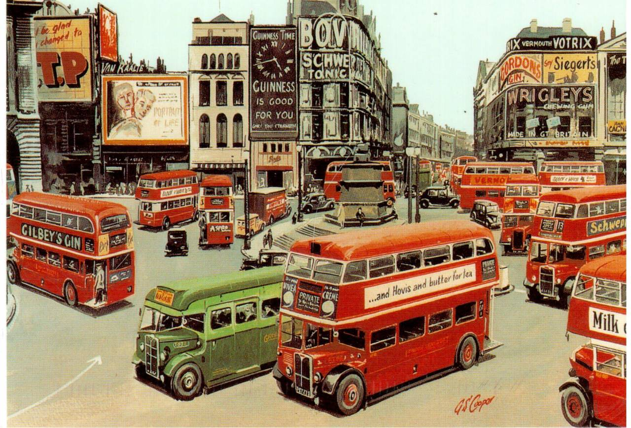 Postcard of Piccadilly Circus 1949