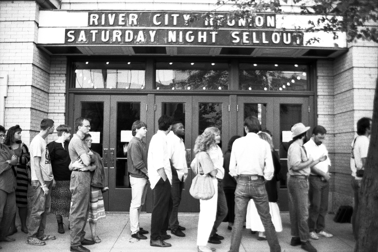 Photographs of Beat Generation authors and others at the River City Reunion in Lawrence, Kansas, 1987.