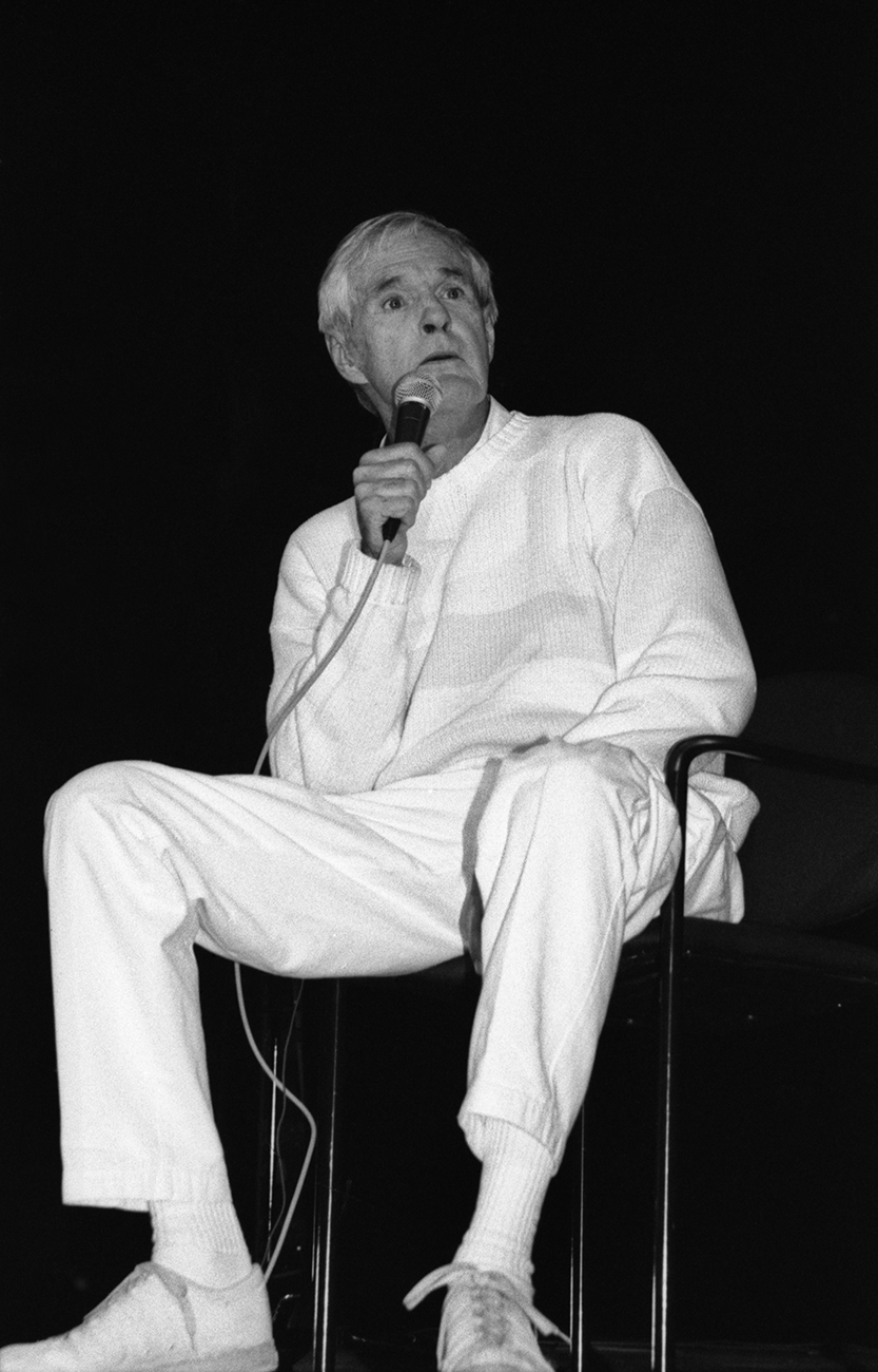Timothy Leary during his performance at Liberty Hall. Lawrence, Kansas
