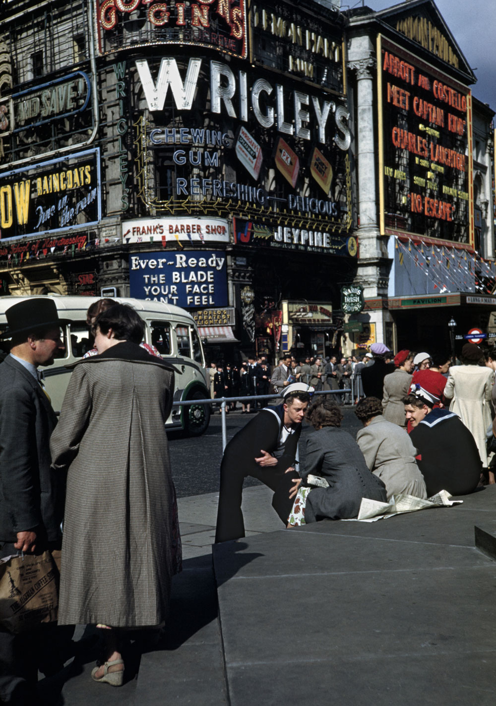 Piccadilly Circus in 1953 by Robert Capa