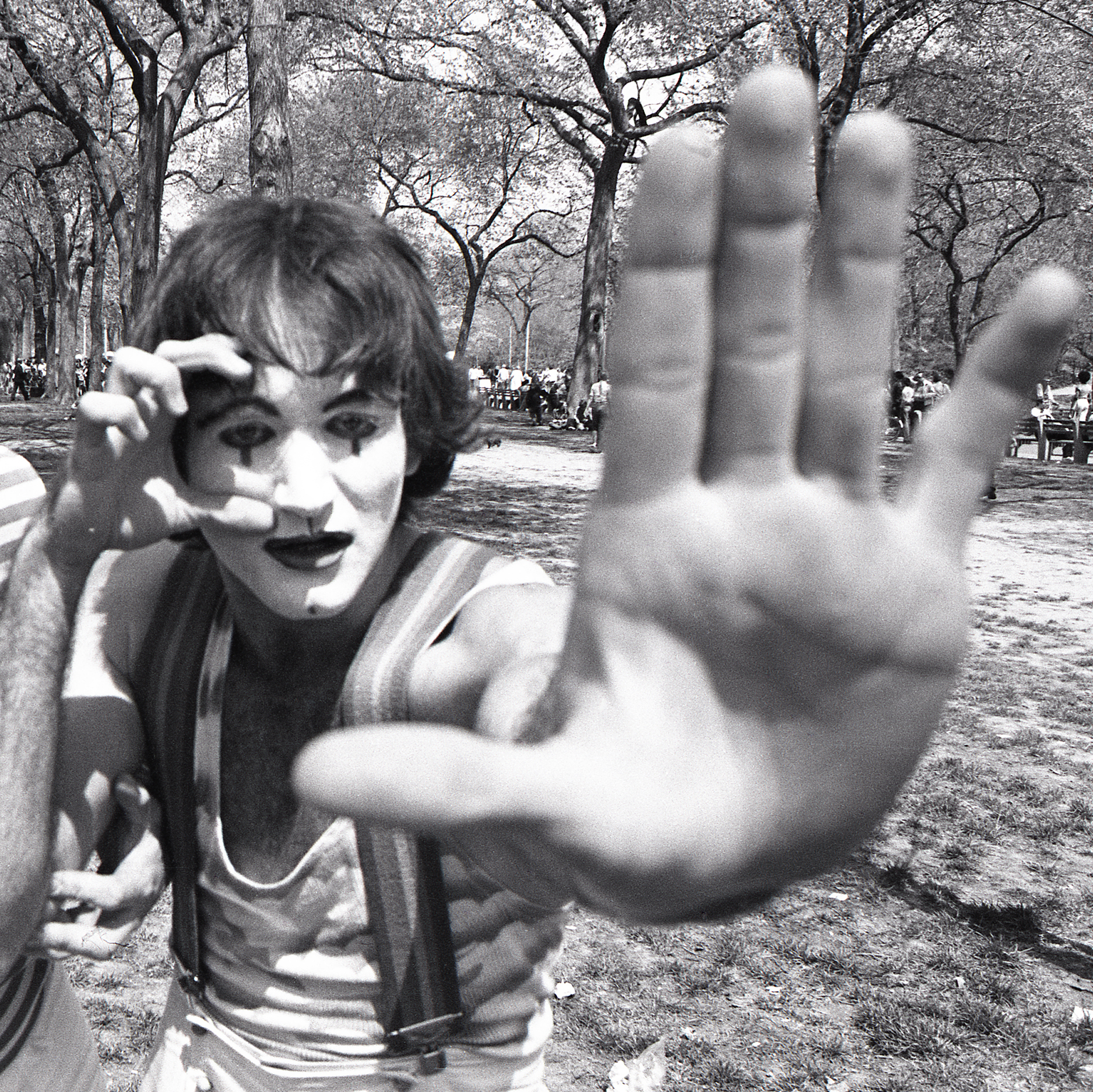 Robin Williams central park New York mime 1974