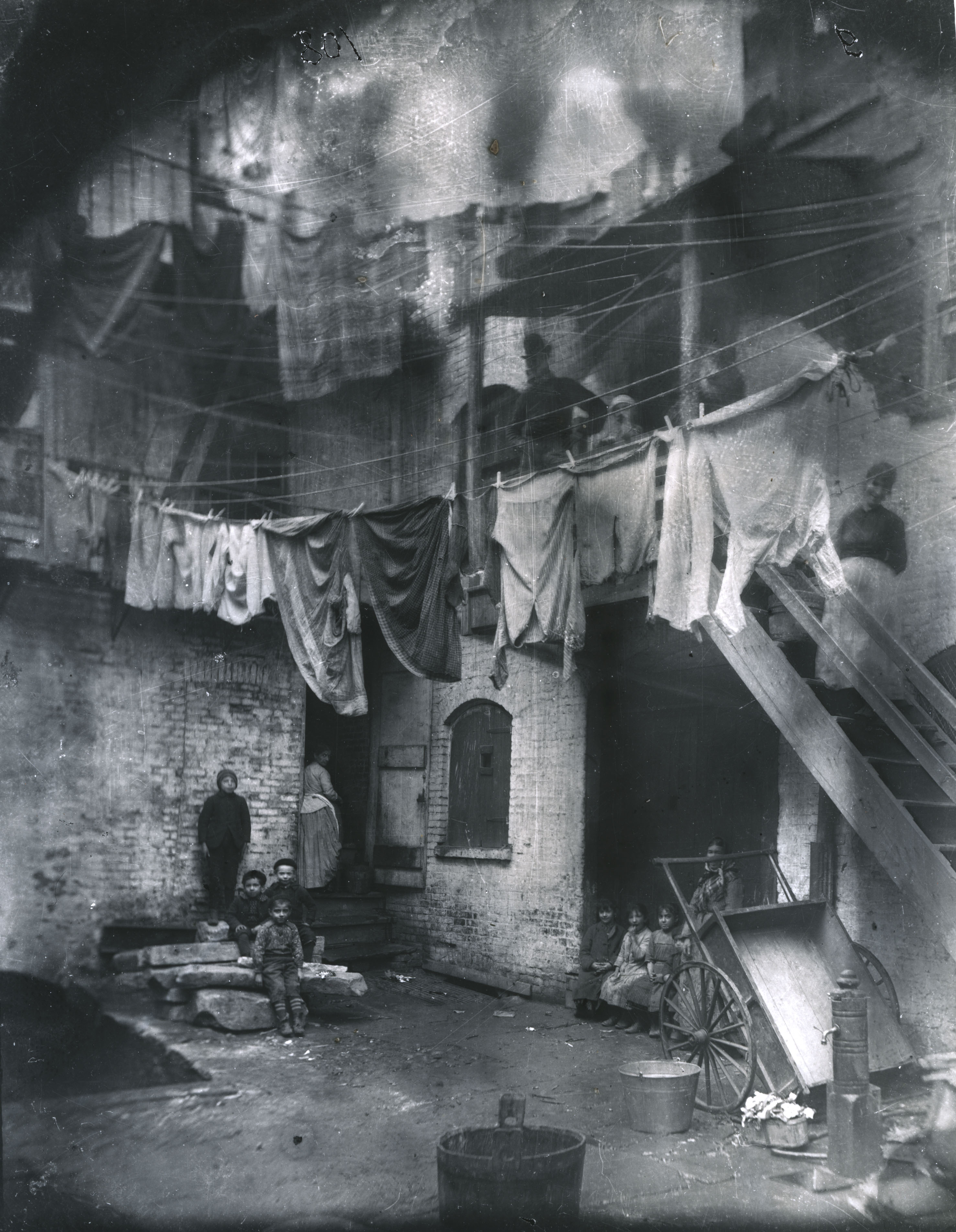 Tenement yard New York slum