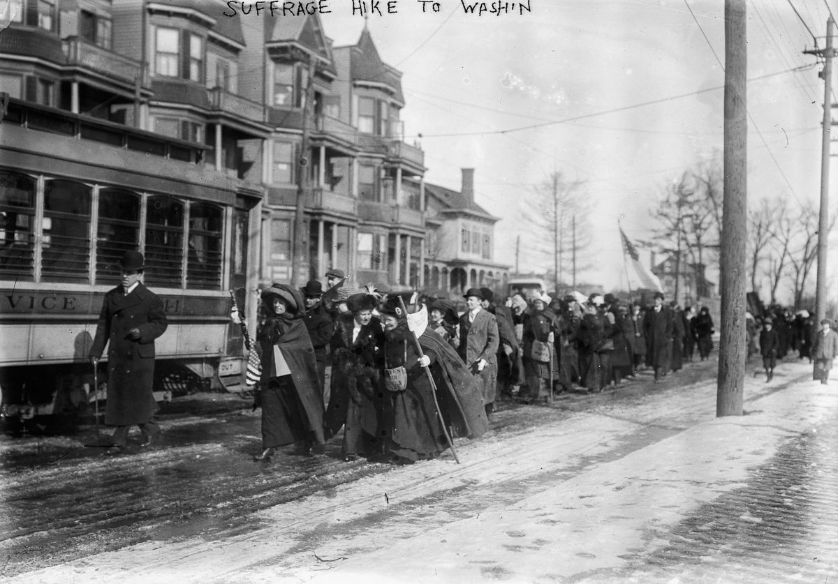 March 3, 1913 suffrage women march washington