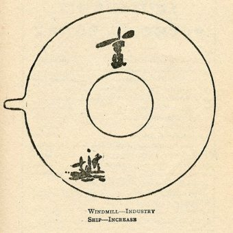 Illustrations From Tea-Cup Fortune Telling by Minetta (1920)