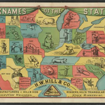 Nicknames Of The States According To An Odd 1884 Map