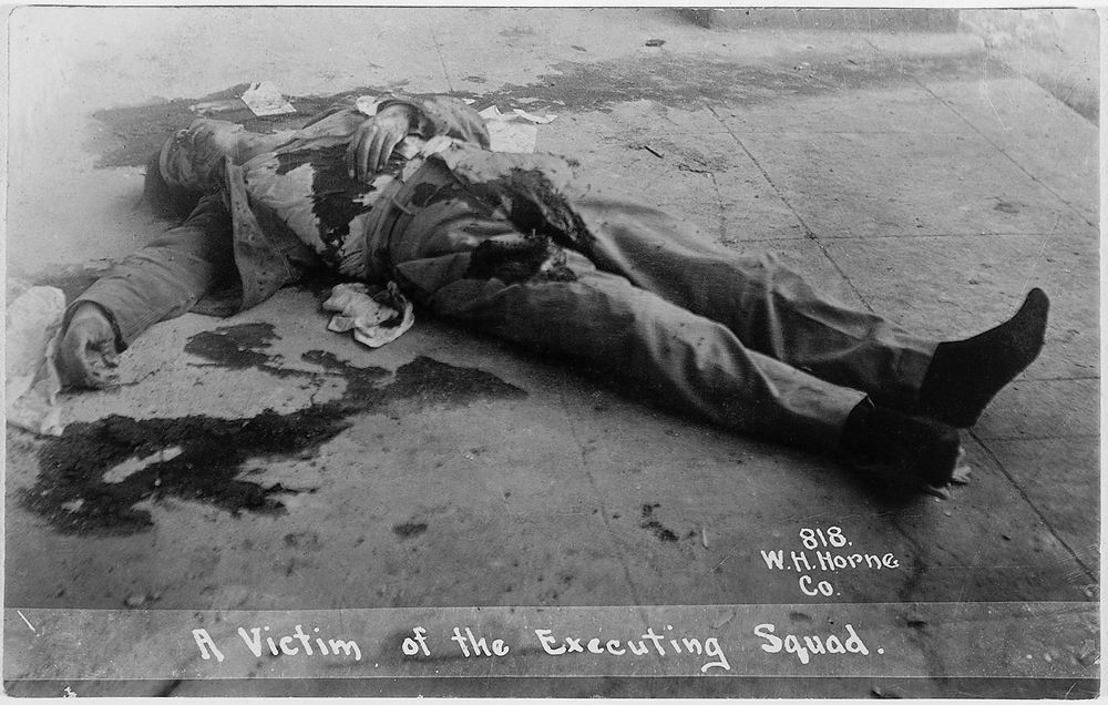 A Victim of the Executing Squad, 1913. Mexico