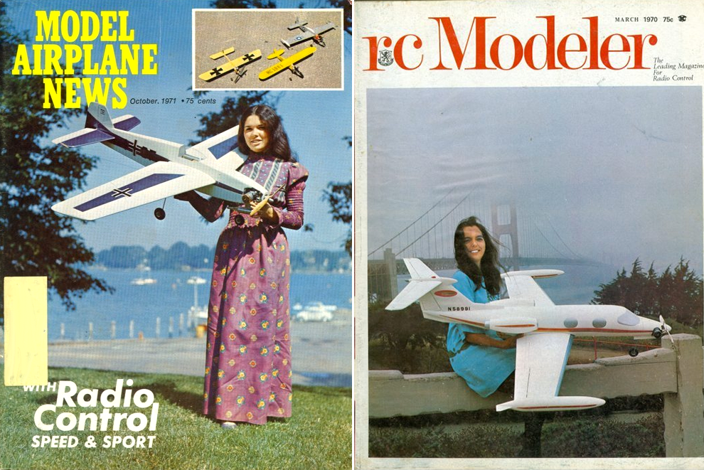 Cover Girls of Model Airplane Magazines of the 1960s-1990s