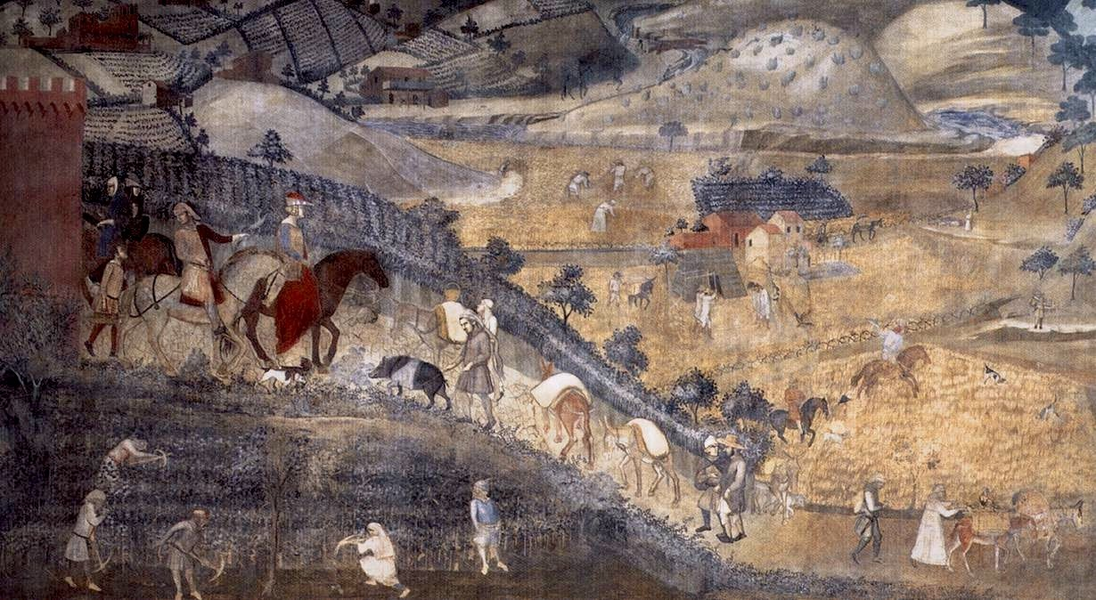 Ambrogio Lorenzetti, The Effects of Good Government, detail.