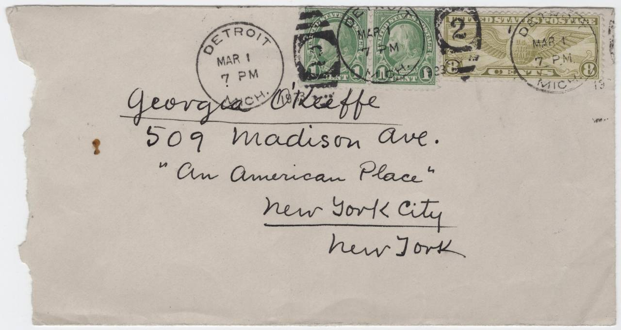 Georgia O'Keeffe Frieda Kahlo envelope letter march 1933 a