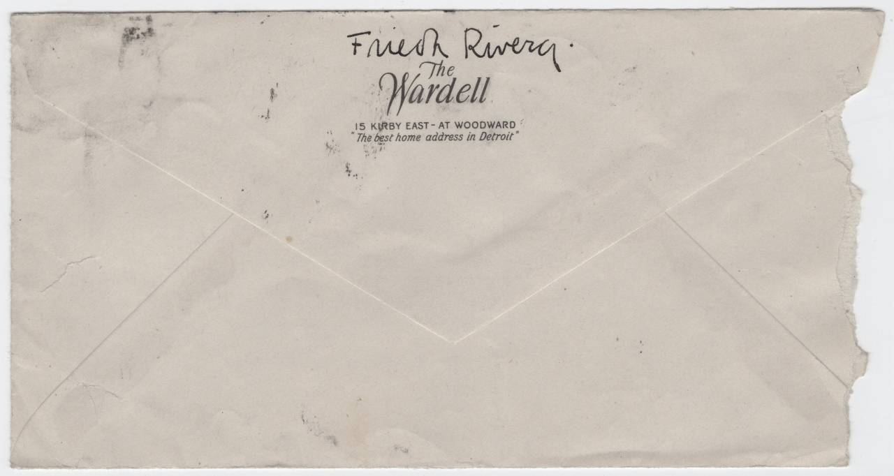 Georgia O'Keeffe Frieda Kahlo envelope march 1933