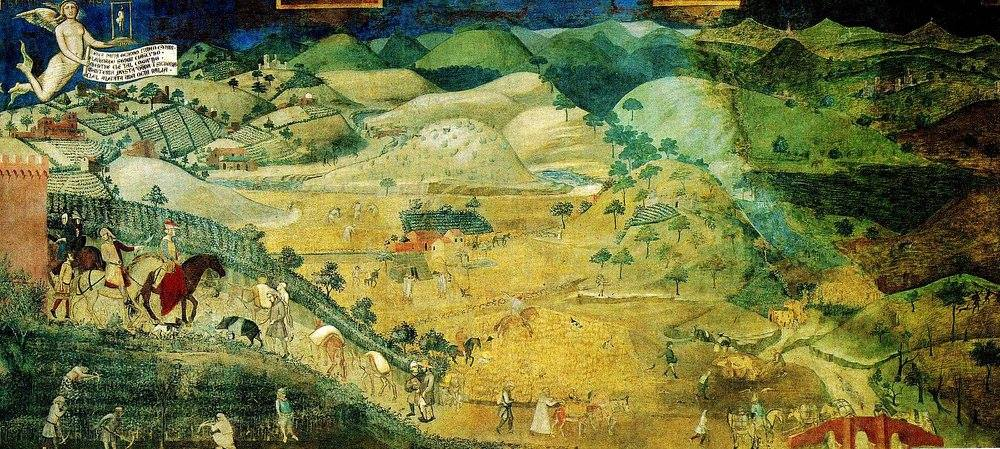 Ambrogio Lorenzetti, The Effects of Good Government in the countryside.