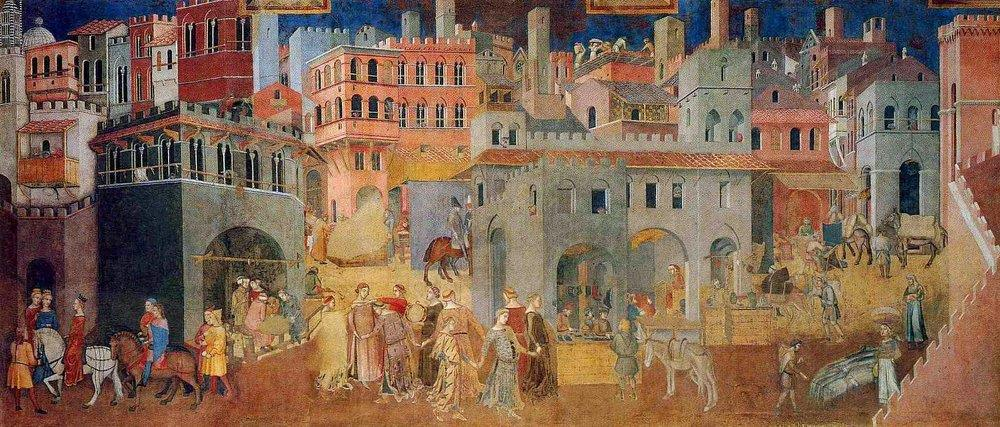 Ambrogio Lorenzetti, The Effects of Good Government in the city.