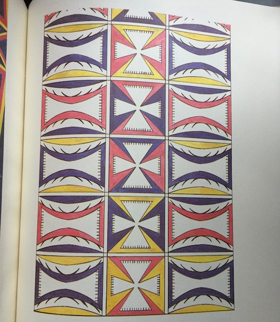 Trunk design from the Fox tribe (the Meskwaki)
