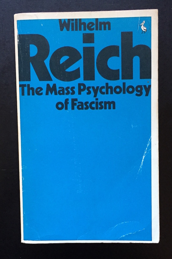 Pelican Books edition of Reich's book, 1975 THe MAss Psychology of fascism