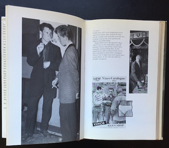 Book illustrations link the youth cult to such outlets as Bill Green's Vince Man Shop, which opened in central London in 1954 and was a favourite of McLaren's Teddy Boys