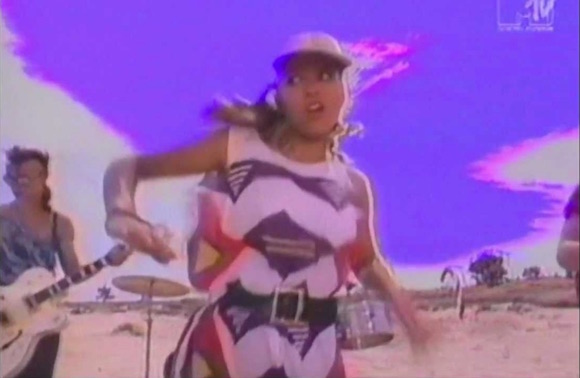 Dakota dress worn by Bow Wow Wow singer Anabella Lwin in Nick Egan-directed I Want Candy video, 1982