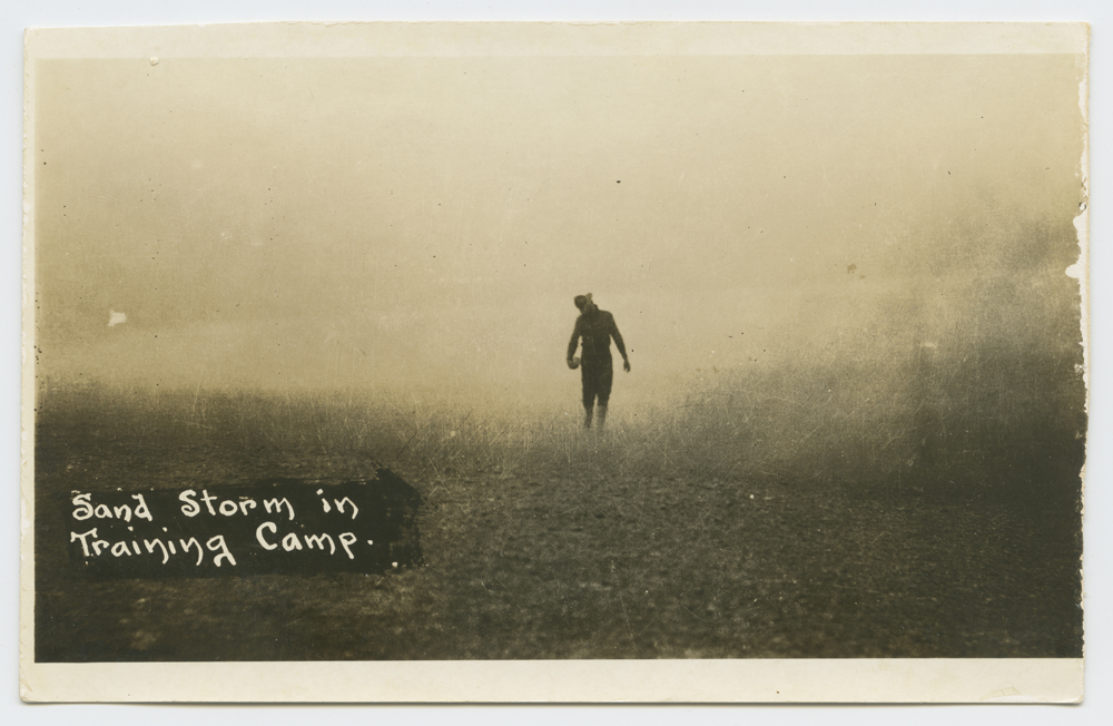 Title: Sand Storm in Training Camp. Creator: Unknown Date: ca. 1916-1917