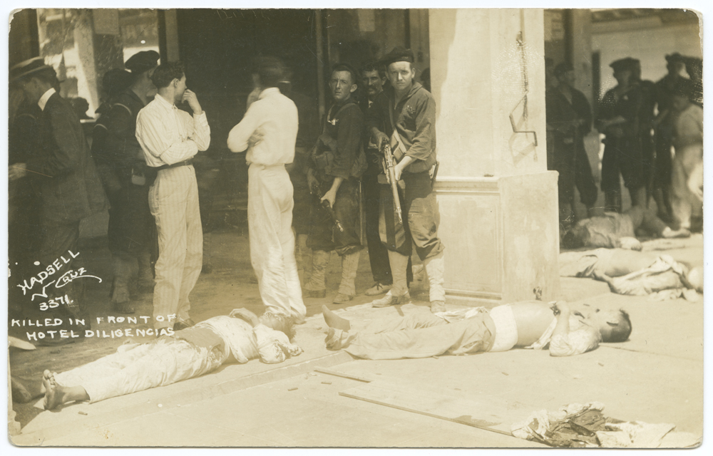 Title: Veracruz Mex. Killed in front of Hotel Diligencias Creator: Unknown Date: ca. April 1914