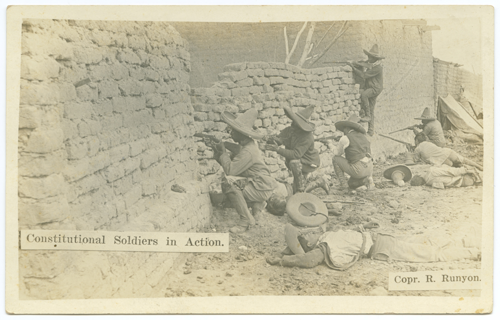 Title: Constitutional Soldiers in Action. Creator: Runyon, Robert, 1881-1968 Date: ca. 1910-1917