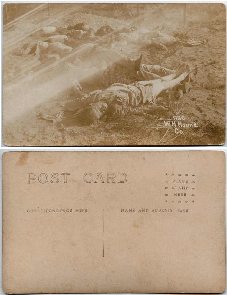 Title: [Dead bodies on a Mexican battlefield] Creator: Horne, Walter H., 1883-1921 Date: 1913