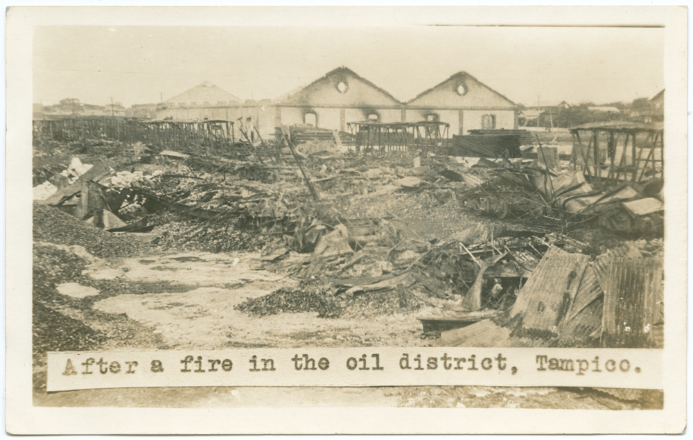 Title: After a fire in the oil district, Tampico. Creator: Unknown Date: 1914