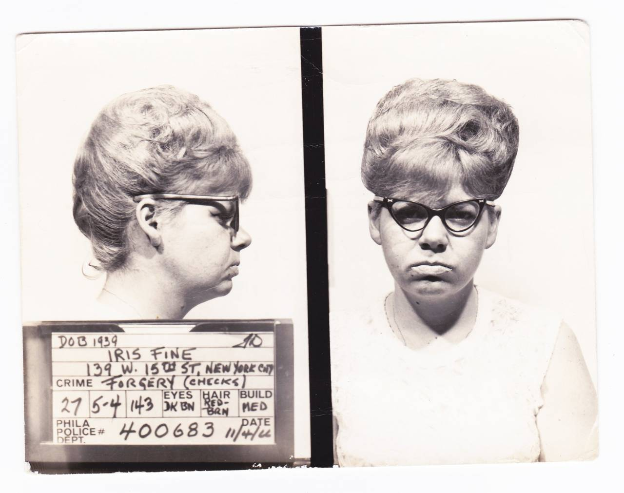 1960s mug shots New York
