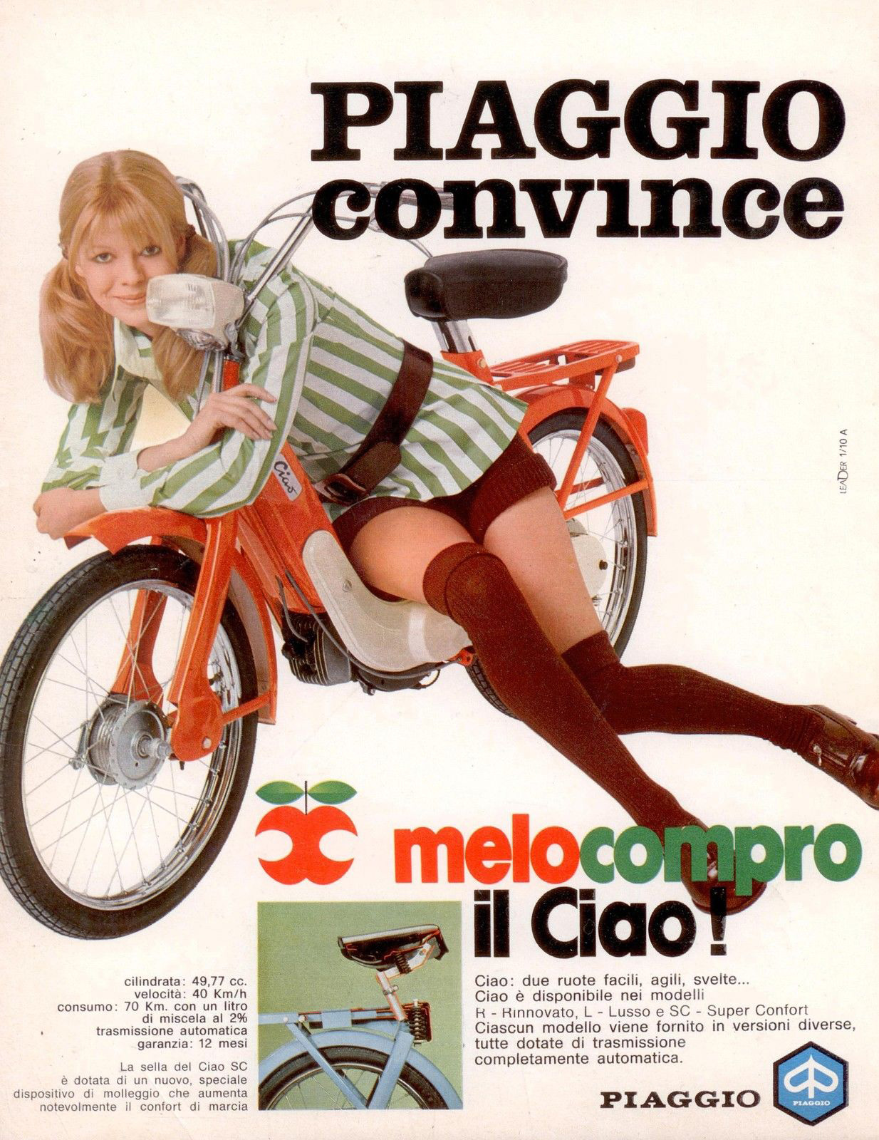 Groovy Chicks Selling Motorbikes 1960s Sexy Swingin Scooter Motorcycle Adverts 373817