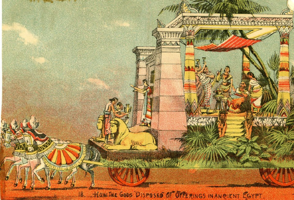 Mardi Gras Floats of the 1880s.