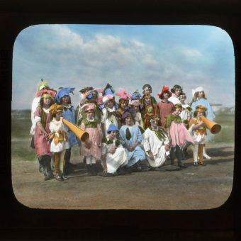 Children Dressed As Flowers For The Wildflower Preservation Society's Colorful Day Out (1920)
