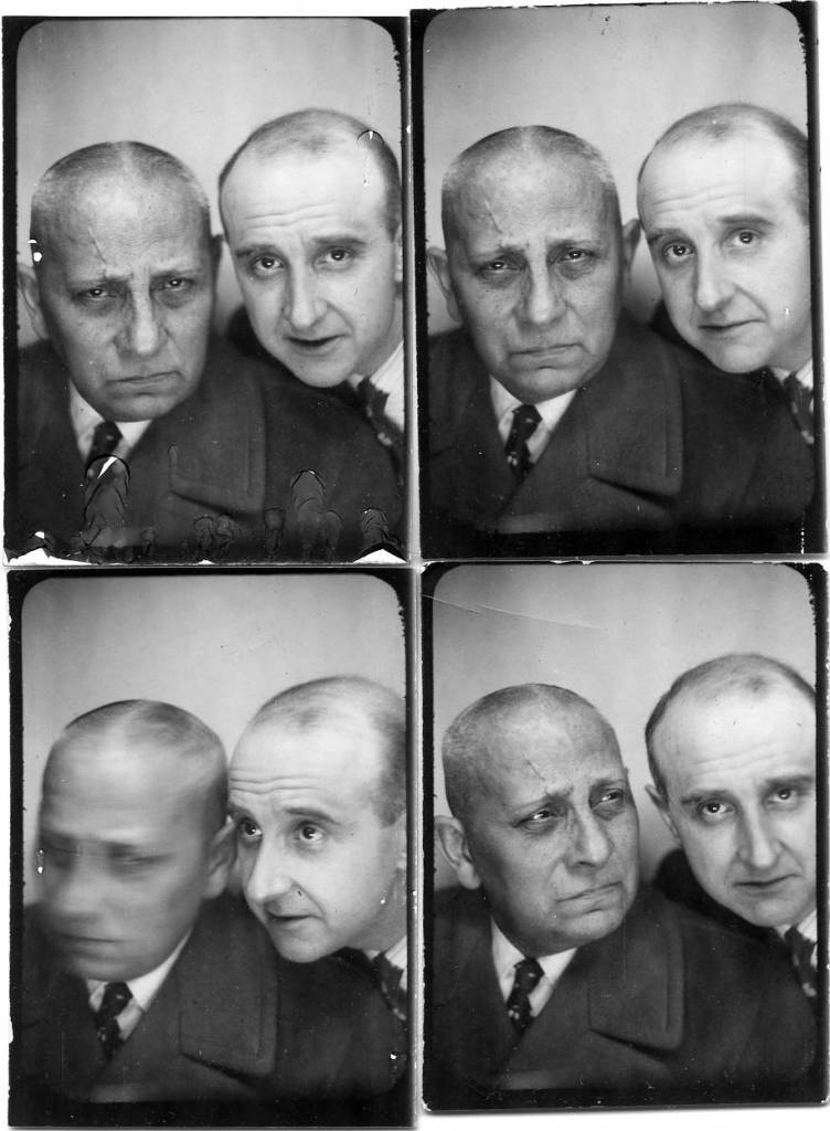 """The photographer Willy Michel (right) and Erich von Stroheim (1885-1957), a film maker of the mute in the United States (Blind husbands, The Devil's passkey, Foolish wives, Merry-go-round, (The Martyrs, The Honeymoon, Queen Kelly, Hello Sister), then an actor in Europe (Marthe Richard, La grande illusion, L'alibi, Mademoiselle Docteur, The Lafarge Affair, Les disparus de Saint-Agil, Macao the hell of the game, Threats, Storms, The fair of chimeras, the dance of death ...). And one last return to the United States for Sunset Boulevard. Concerned about his publicity, he had found the slogan """"The man you love to hate"""". In 1949. Married last to Denise Vernac"""
