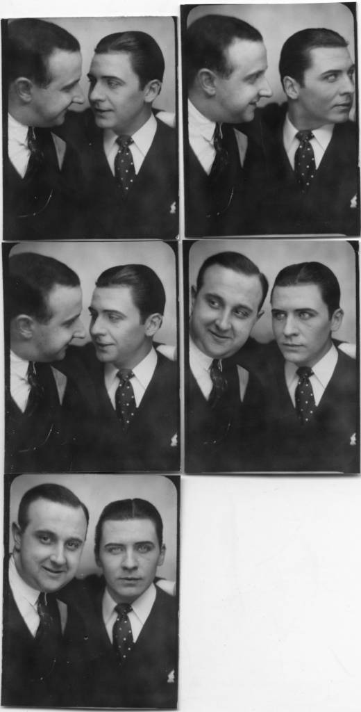 The photographer Willy Michel (left) and Roger Jordens dit Duchesne (1906-1996), actor of cinema (The novel of a cheater, Gentlemen the rounds-of-leather, Bob the flambeur ...). Married to Yvette Lebon