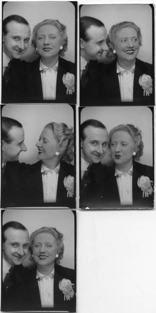 The photographer Willy Michel and Jeanne Vertuy, known as Denise Gray (1896-1996), operetta singer (J'te veux, Le train de 8 h.47 ...), actress of theater (Good weekend Monsieur Bennett! Assassins associates ...) and cinema from 1913 to 1990 (The devil with the body, Bolero, Romance with three, Adieu Leonard, The ideal couple, Dormitory of the great ones, La Boum ...). In 1942. Mother of Suzanne Bara.