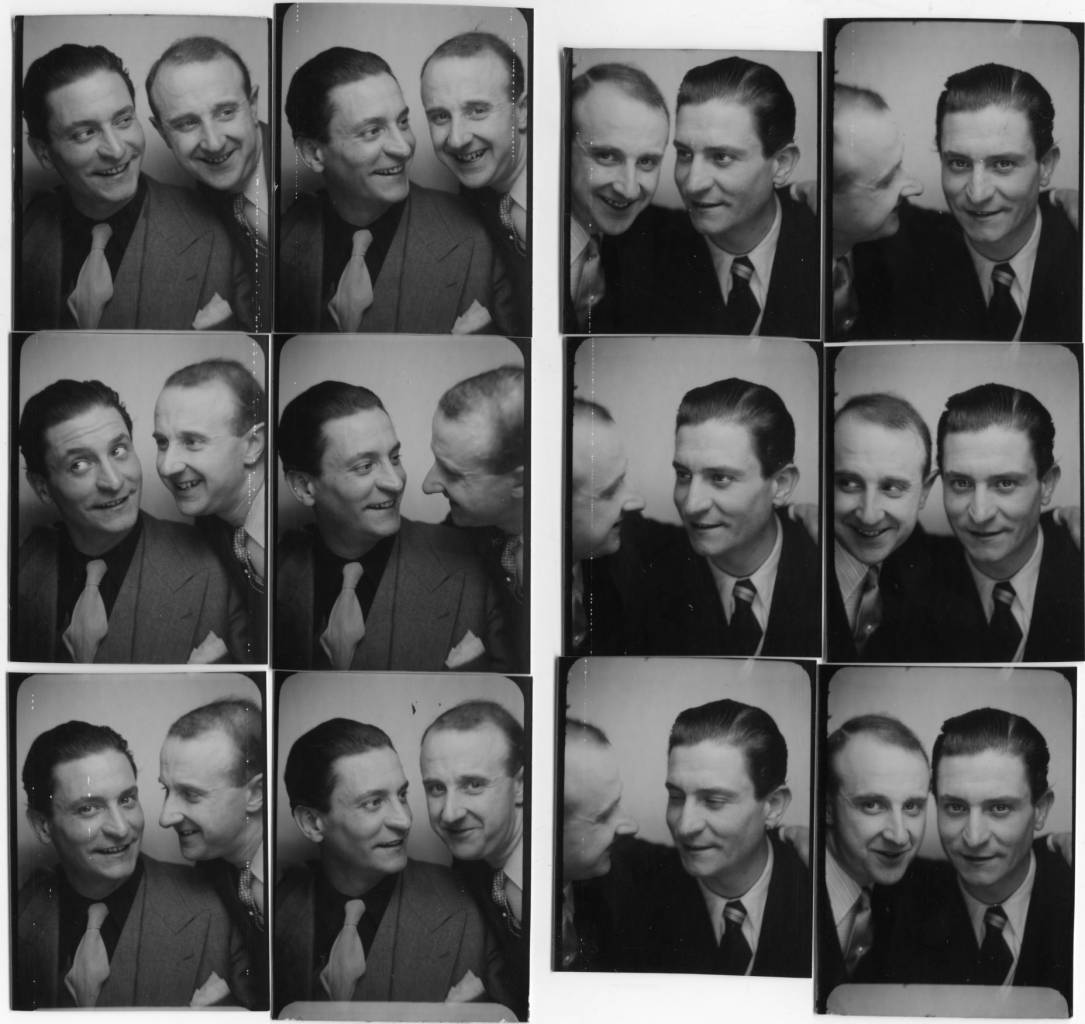 The photographer Willy Michel (left) and Clément Duhour (1911-1983), actor, singer (even of operetta: La ferie blanche), producer (Si Versailles was told me), director, athlete Los Angeles, 1932), and finally a restorer. Left: December 6, 1940. Right: Ten days later