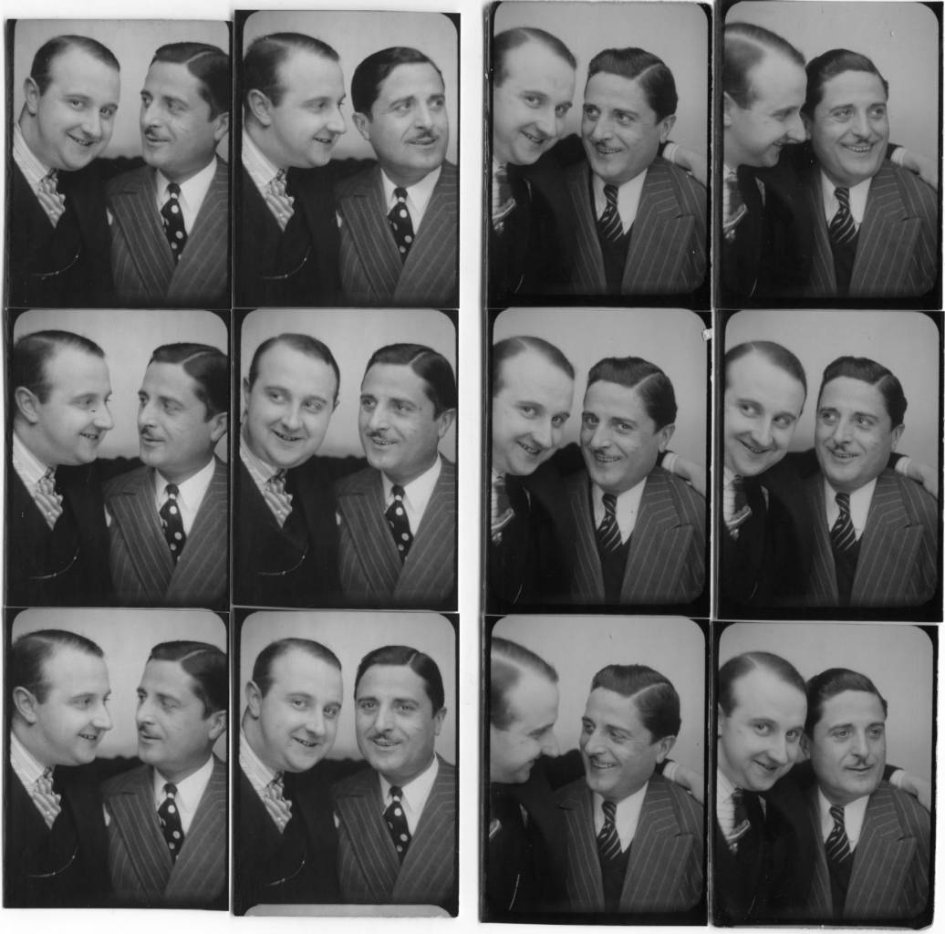The photographer Willy Michel (left) and Henri Danviolet dit Bosc (1884-1967), a theater actor and silent and talking films (Mayerling, Hôtel du Nord ...). Father of Denise Bosc