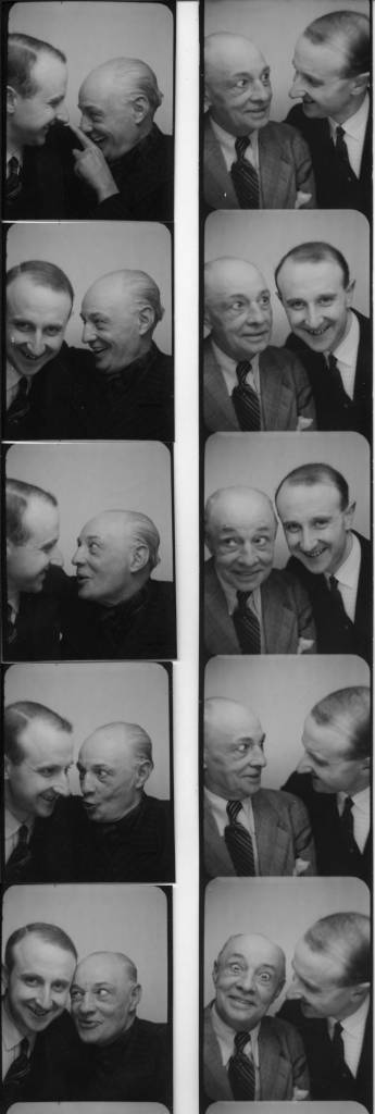 The photographer Willy Michel (right) and Alphonse Boulicot (1878-1957), clown - at Medrano I think. Left: April 5, 1940. Right: December 16, 1941