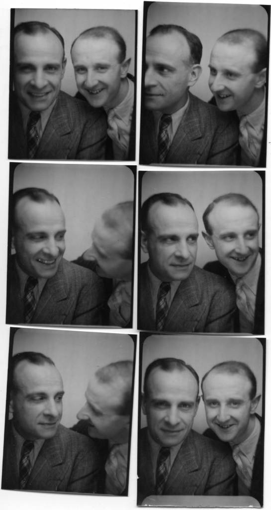 The photographer Willy Michel (right) and Jean Galland (1897-1967), a theater actor (The hard bread, Dom Juan ...) and cinema (Fantomas, Remous, , Édouard and Caroline, Le plaisir, Madame de, Head against the walls, Lola Montès ...). August 9, 1941