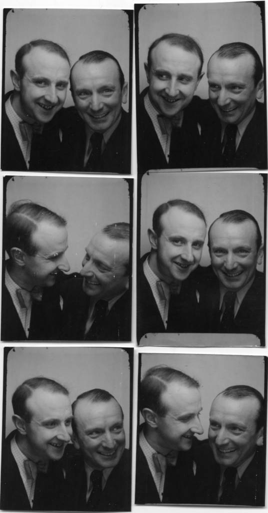 The photographer Willy Michel (left) and Henri Alibert (1889-1951), singer (The most beautiful of all tangos in the world ...). March 20, 1940