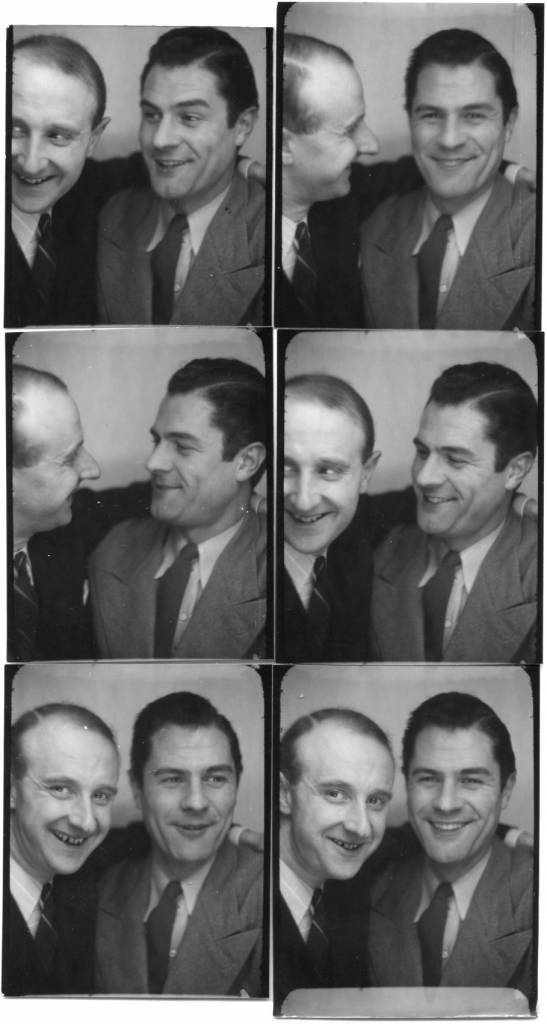 The photographer Willy Michel (left) and Georges Gacon called Gray (1911-1954), actor of cinema (Monsieur Hector, Adémaï bandit d'honneur, Plume la poule ...). March 16, 1942
