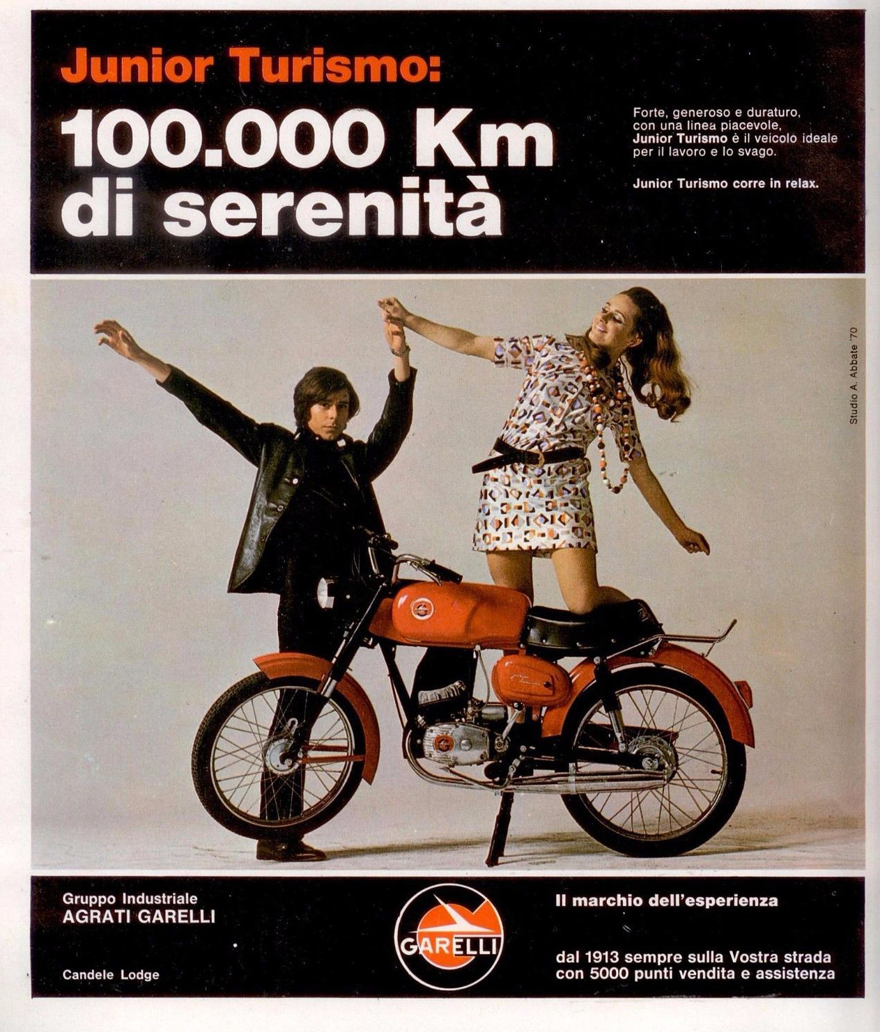 anni 70 GARELLI JUNIOR TURISMO Advert