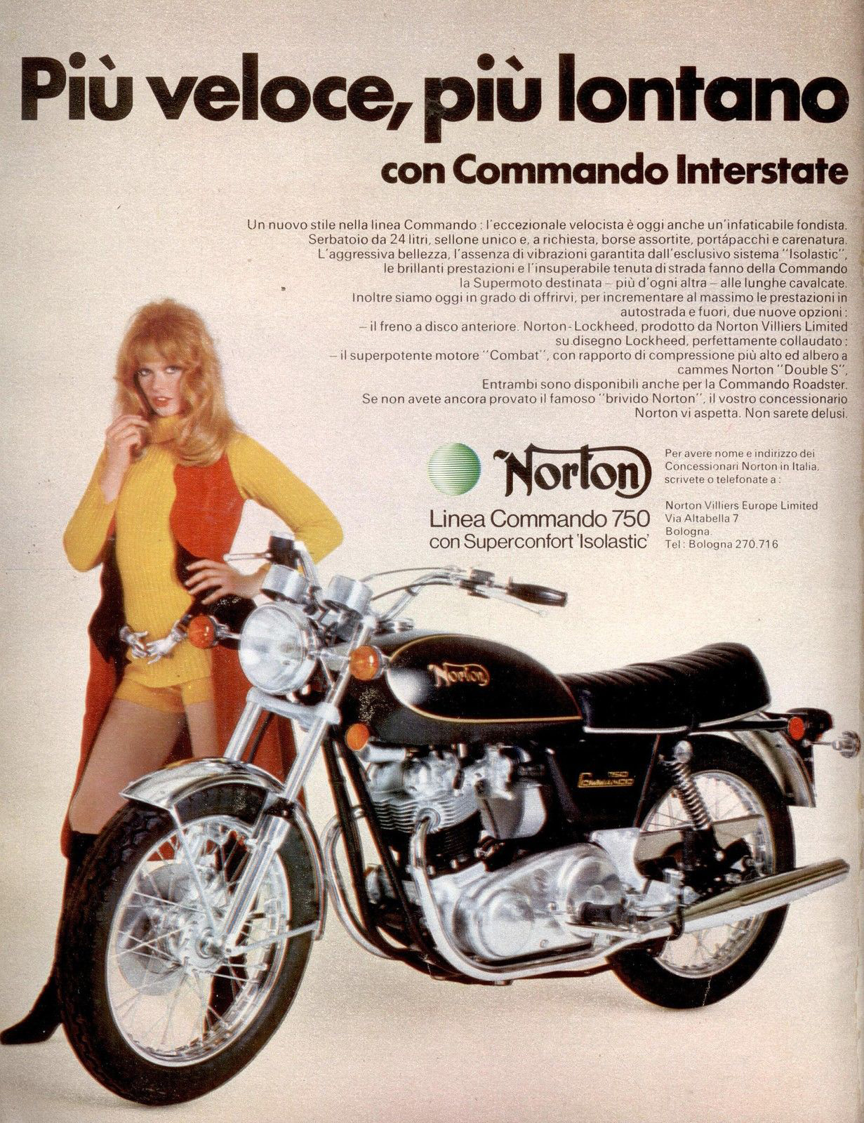 anni 70 NORTON LINEA COMMANDO 750