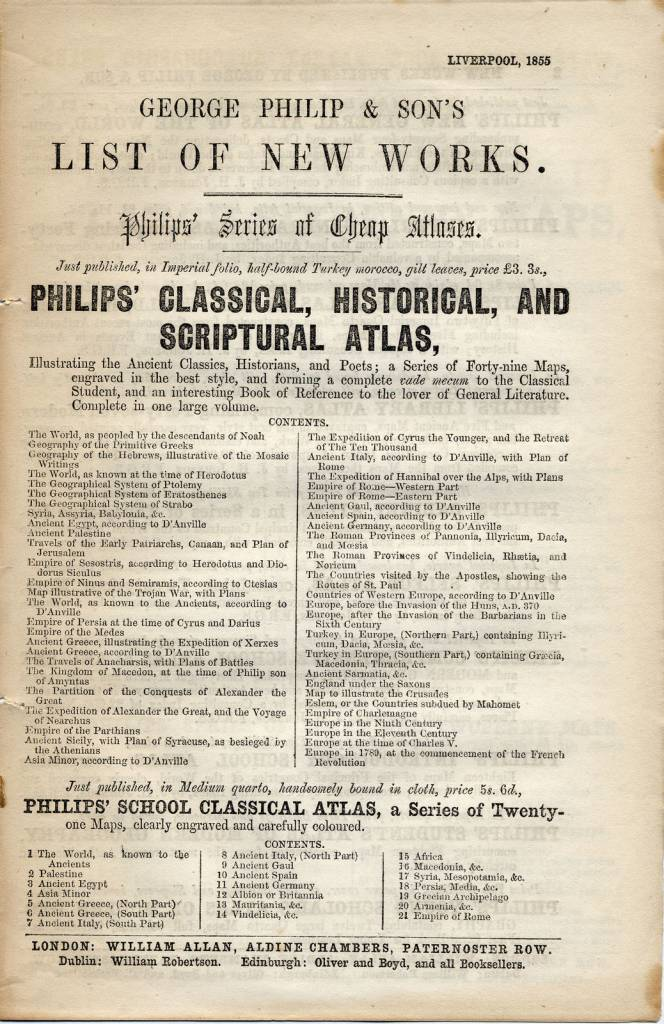 catalogue of map publications by George Philip & Son in Liverpool