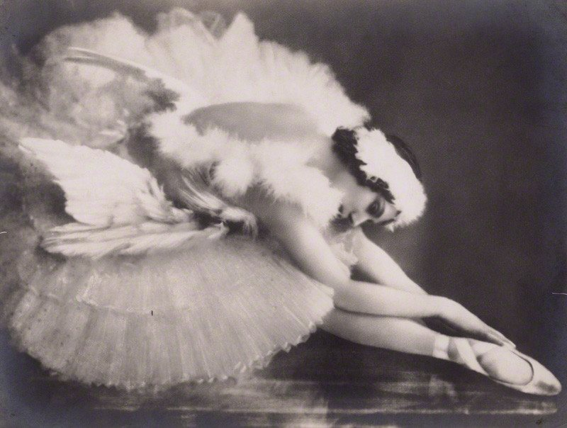 Anna Pavlova in 'The Dying Swan' by Frans van Riel vintage bromide print, circa 1928