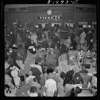 The Greyhound Bus Terminal, Washington DC: April 1941