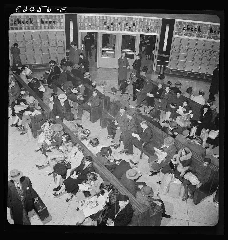 Washington, D.C. April, 1942. Greyhound bus terminal
