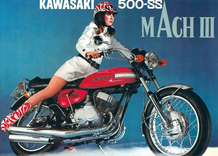 mach 3 motorcycle advert vintage