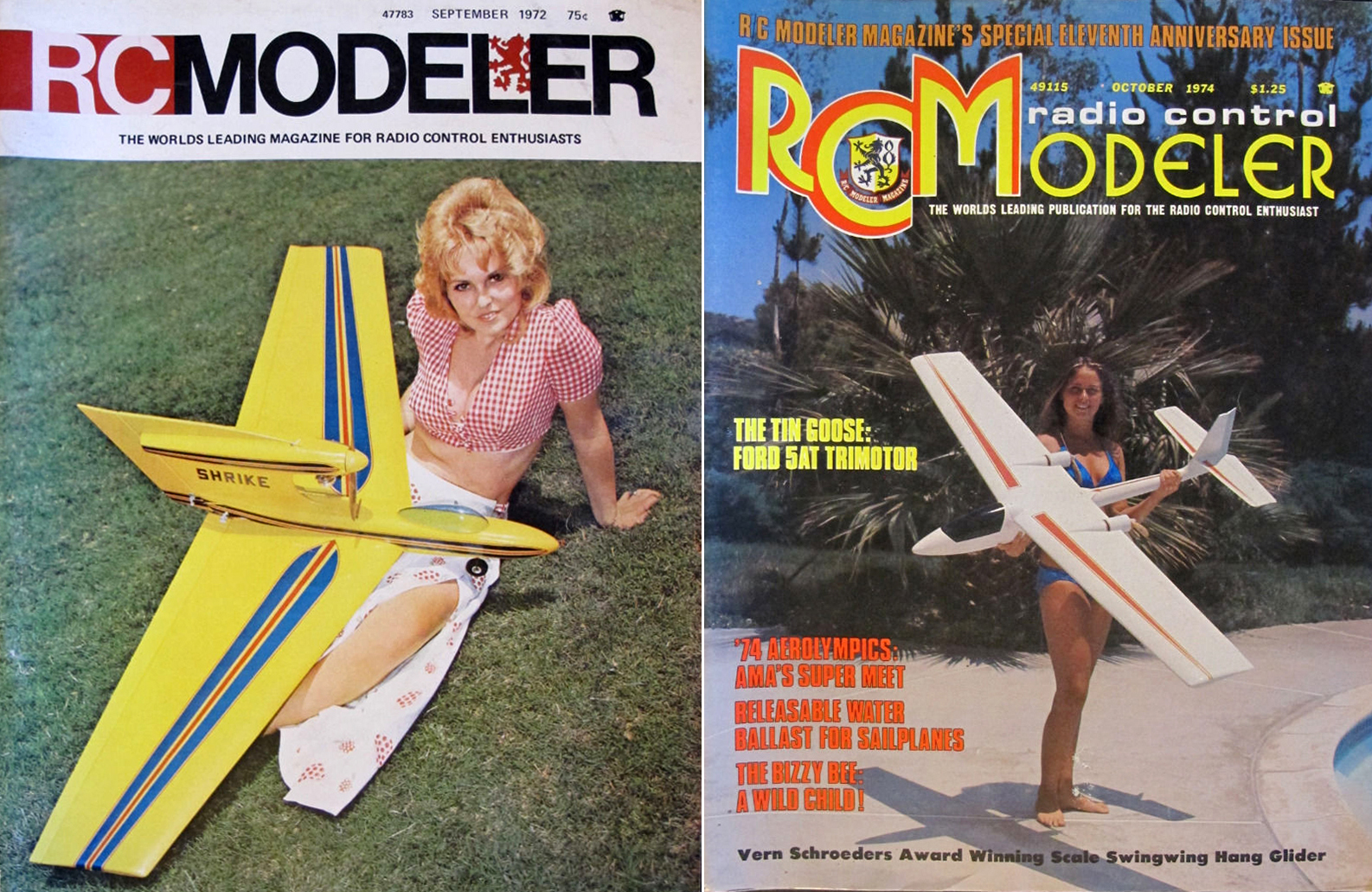 Cover Girls of Model Airplane Magazines of the 1960s-1990s - Flashbak