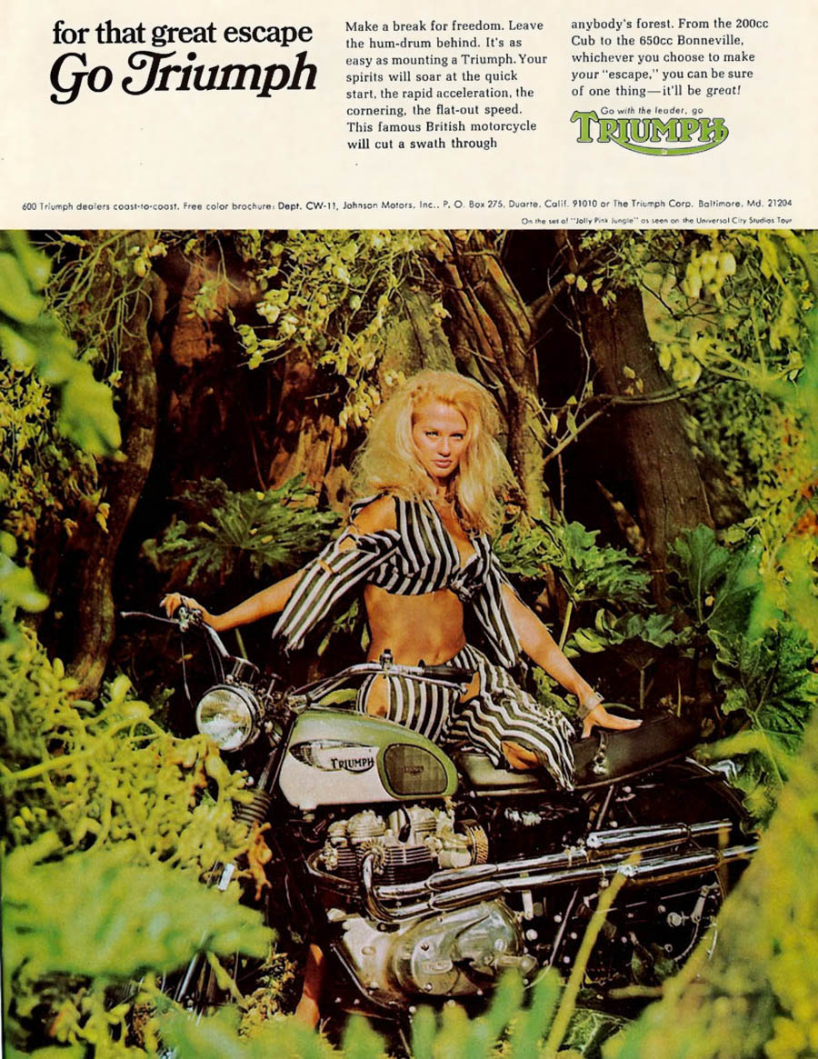 motorcycle advert vintate triumph
