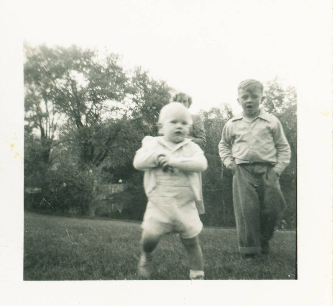 think this is me (Ted Polhemus) with my mother's sister's son Chuck Tickner. This was probably in Union Center, NY, USA