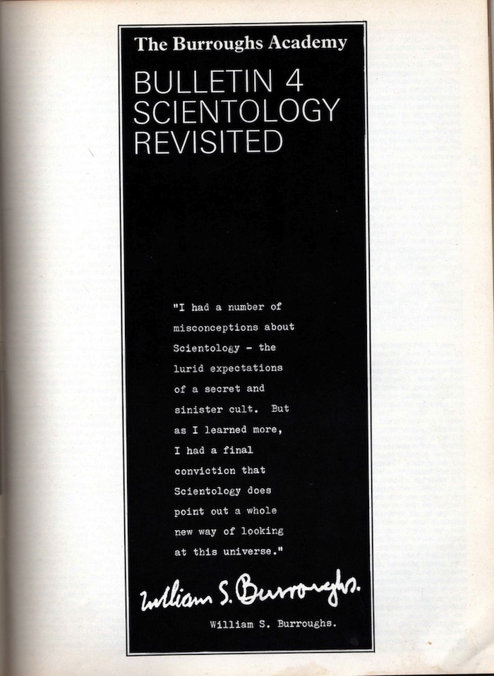 william burroughs scientology