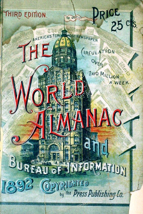 World Almanac 1892 The distance between New York streets